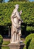 Skulptur der Flora im oberen Park Römische Göttin, deren Kult unter dem Sabines verbreitet wurde, und besonders in Mittel-Italien lizenzfreie stockfotografie