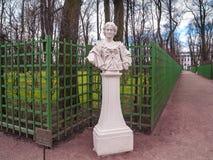 Skulptur der Frau Maria-Kazemira im Park Sommer-Garten Lizenzfreie Stockfotos