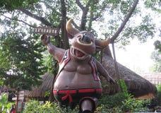 Skulptur der heiligen Kuh in China Lizenzfreies Stockfoto