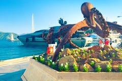 Skulptur der Krake in Marmaris Stockbilder
