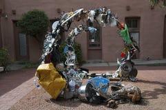 Skulptur in der Stadt von Santa Fe In New Mexiko Lizenzfreies Stockfoto