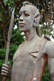 Skulptur des afrikanischen Kriegers Stockbild