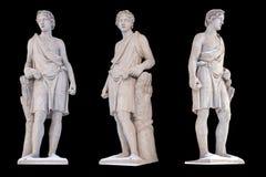 Skulptur des altgriechischen Gott Adonis-Isolats Adonis war ein Gott der Sch?nheit, des Wunsches und der Vegetation stockbild