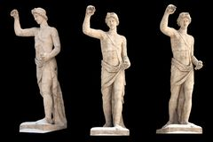 Skulptur des altgriechischen Gott Apollon-Isolats E lizenzfreies stockbild