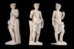 Skulptur des altgriechischen Gott Mercury-Isolats Mercury war ein Bote und ein Gott von Gesch?fts-, von Gewinn und von Handel lizenzfreie stockbilder