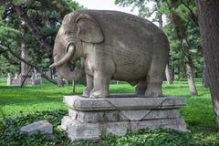 Skulptur des Elefanten in Beilings-Park, Shenyang, China Stockfotografie