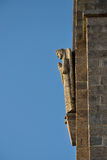 Skulptur des Engels in der Fassade der Kirche in Penha, Guimaraes, Portugal Stockfotografie