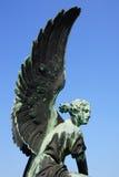 Skulptur des Engels im Sanssouci Park. lizenzfreies stockbild