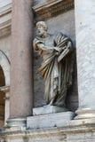 Skulptur des Heiligen Mary Major Basilica - Rom Stockfotografie
