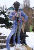 Skulptur des kleinen Prinzen Antoine de Saint-Exupery und sein Fuchs Lizenzfreie Stockfotos
