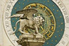 Skulptur des Löwes von San Marco stockbilder
