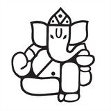 Skulptur des Lords Ganesh Lizenzfreie Stockfotos