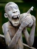 Skulptur des lustigen afrikanischen Mannes Lizenzfreie Stockbilder