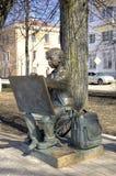 Skulptur des Malerei-Jungen Lizenzfreie Stockfotos