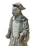 Skulptur des Mannes auf einem weißen Hintergrund Stockbilder