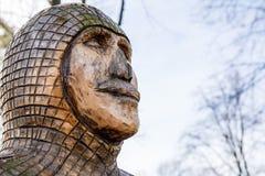 Skulptur des mittelalterlichen Bergmannes im Park Polen Lizenzfreies Stockbild