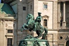 Skulptur des Prinzen Eugene bei Hofburg, Wien Stockfotos