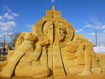 Skulptur des Sandes Lizenzfreie Stockfotografie