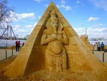 Skulptur des Sandes Lizenzfreies Stockbild