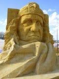 Skulptur des Sandes Stockfoto