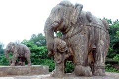 Skulptur des Tempels von Konarak-Orrisa. Stockbild