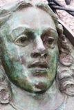 Skulptur des weiblichen Gesichtes Stockfotografie