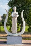 Skulptur des weiblichen Musen Lizenzfreies Stockbild