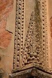 Skulptur-Detail Htilominlo-Pagode Bagan myanmar Stockfotografie