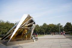 Skulptur, drei Grad Raumentwicklung Lizenzfreie Stockbilder