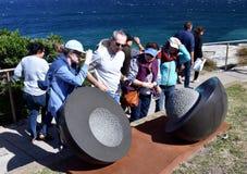 Skulptur durch das Meer in Bondi Stockbilder