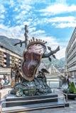 Skulptur durch Salvador Dali in Andorra-La Vella, Andorra Stockfoto