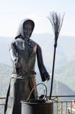 Skulptur einer Hexe gemacht vom Metall Lizenzfreie Stockfotos