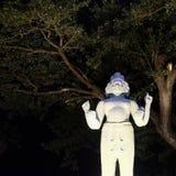 Skulptur einer hindischen Gottheit mit vier Armen und einigen Gesichtern lizenzfreie stockfotos