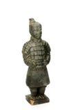 Skulptur eines chinesischen Soldaten - lokalisiert Stockbild