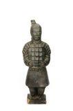 Skulptur eines chinesischen Soldaten - lokalisiert Stockfotografie
