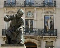 Skulptur eines Dichters Stockbild