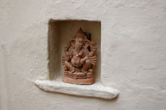 Skulptur eines hindischen Gottes Stockfotos