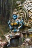 Skulptur eines hindischen Tempels Stockfoto