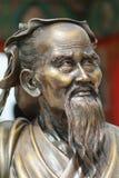 Skulptur eines klugen Mannes Stockfoto