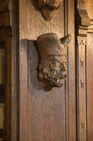 Skulptur eines Mann ` s Kopfes Stockbild