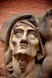 Skulptur eines Muskelgesichtes Stockfotografie