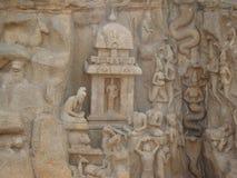 Skulptur eller hällristning Arkivbild