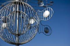 skulptur för 2 metall Arkivbild