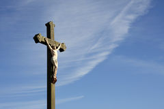 Skulptur för Jesus Kristuscrucifixion Royaltyfri Foto