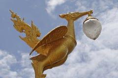 Skulptur för ljus pol Arkivbild