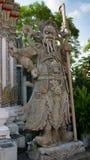 Skulptur för stenchinessstil och thai konstarkitektur Arkivfoton