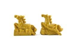 Skulptur för två häst Fotografering för Bildbyråer