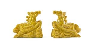 Skulptur för två häst Royaltyfri Fotografi