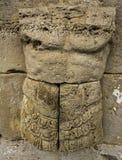 Skulptur fördärvar av Dion Archeological Site i Grekland Royaltyfria Foton
