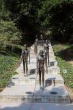 Skulptur für die Opfer des Kommunismus Prag stockfotos